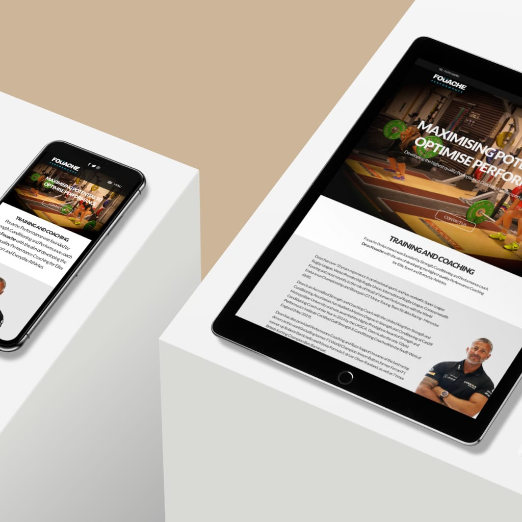 web design for tablet and phone