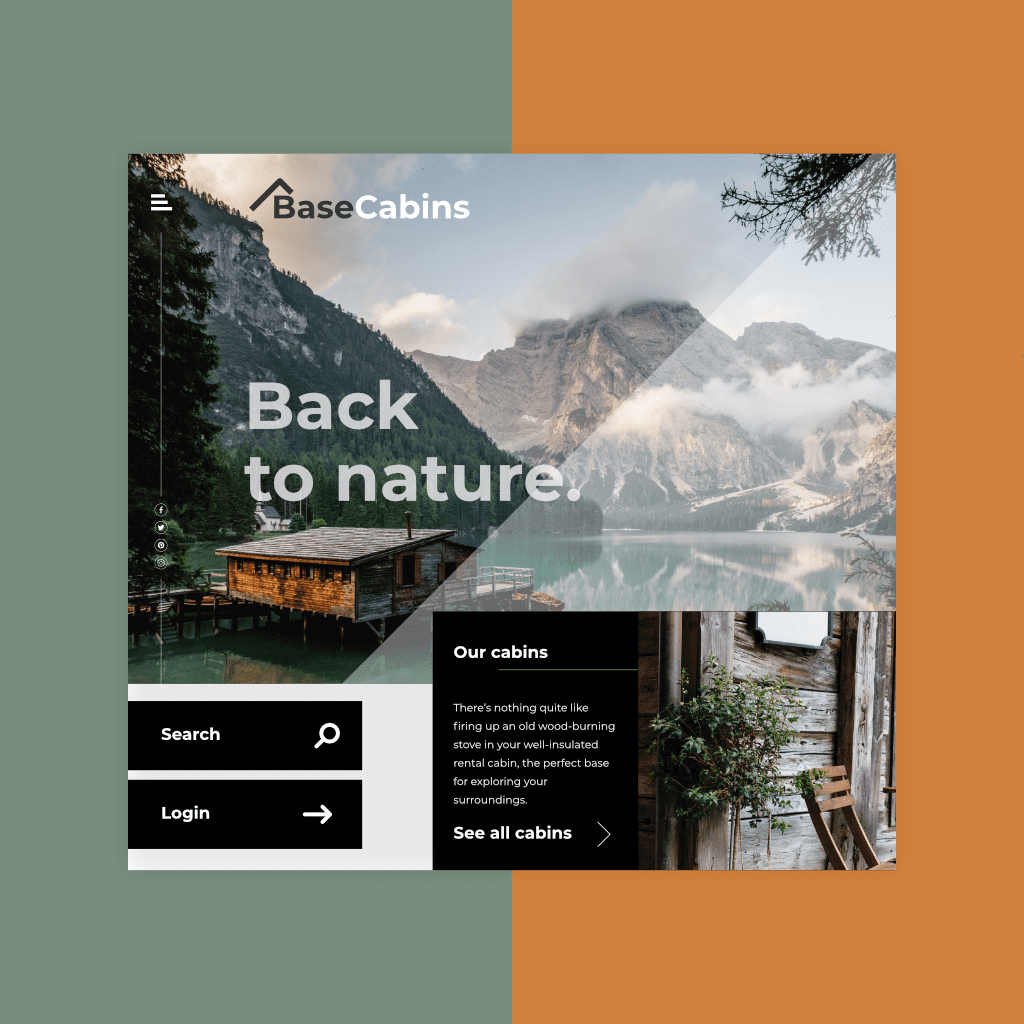Cabin website design