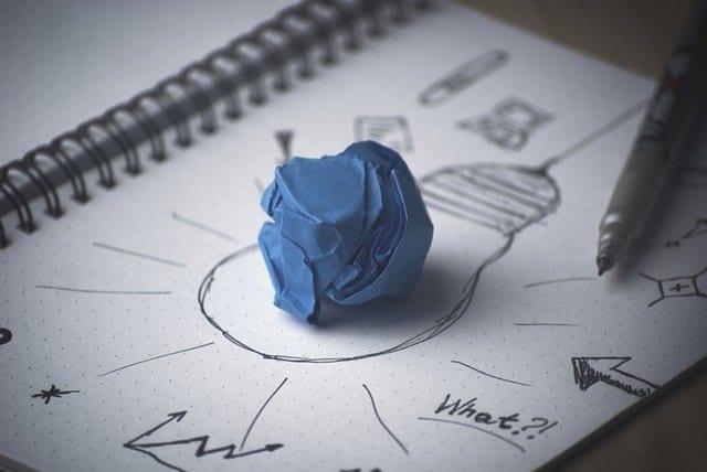logo design on paper