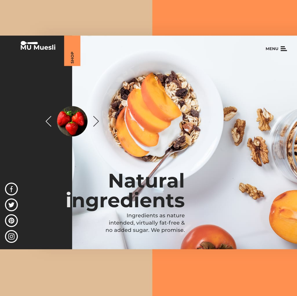 cereal packaging and website