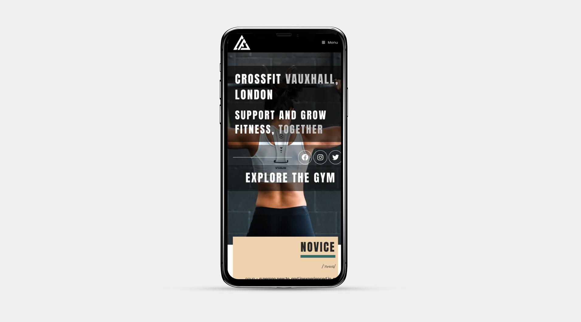 mobile design for London gym