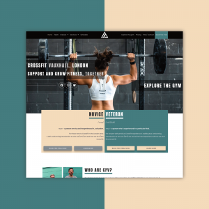 Website design for London crossfit gym