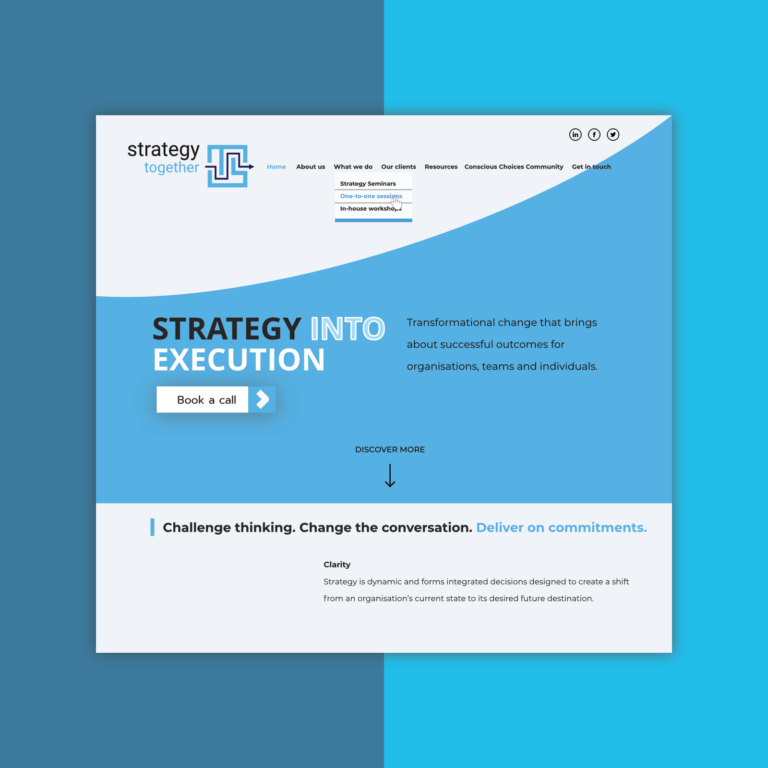 Website design for Strategic Business Advisor