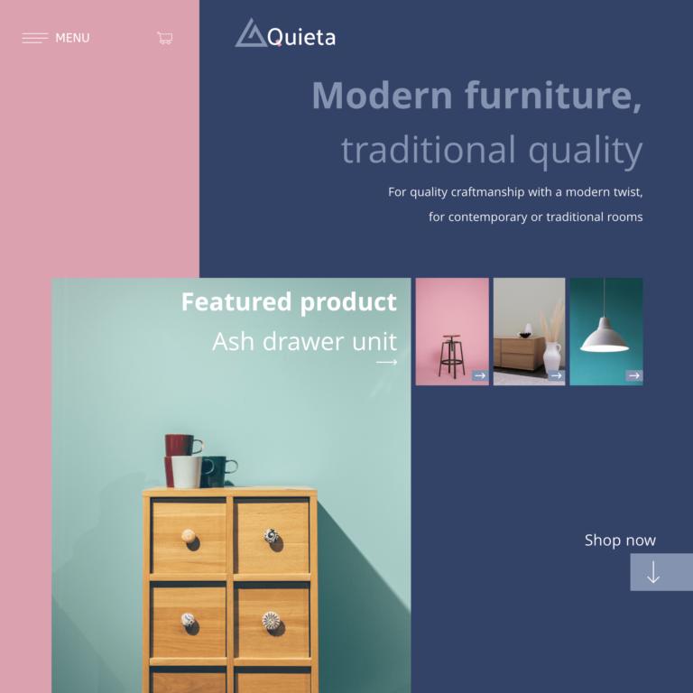 Furniture shop website design