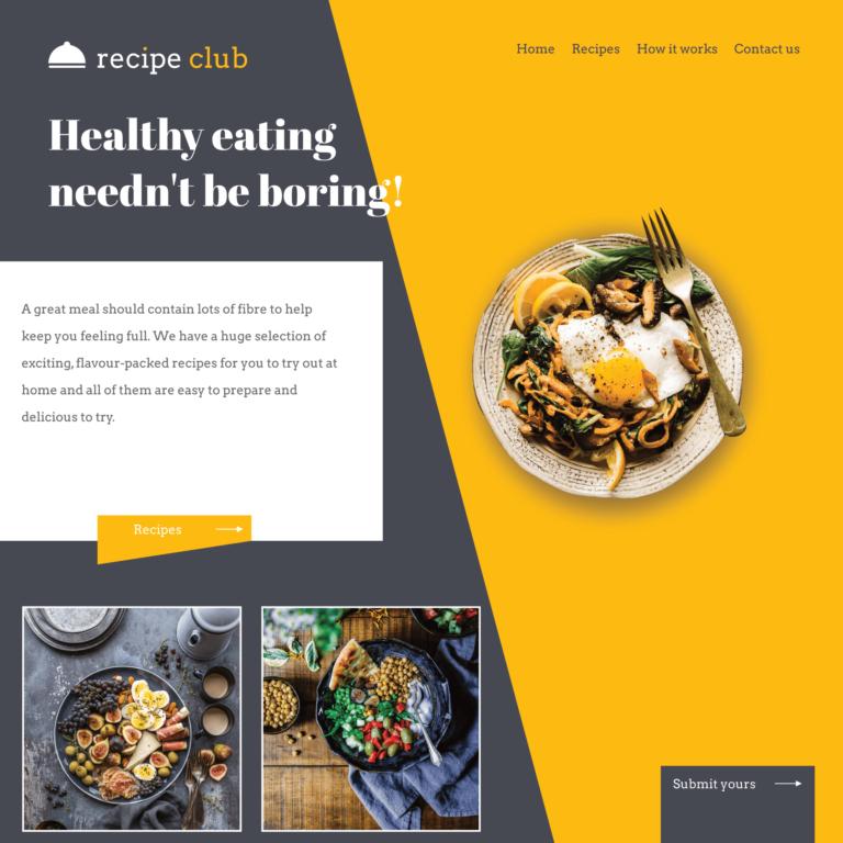 Food and restaurant logo and website design